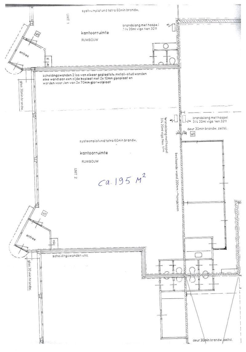 plattegrond kantoor