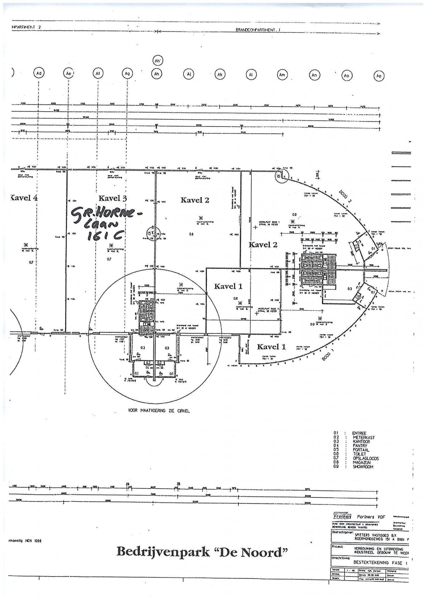 Plattegrond Gr. Hornelaan 161 C