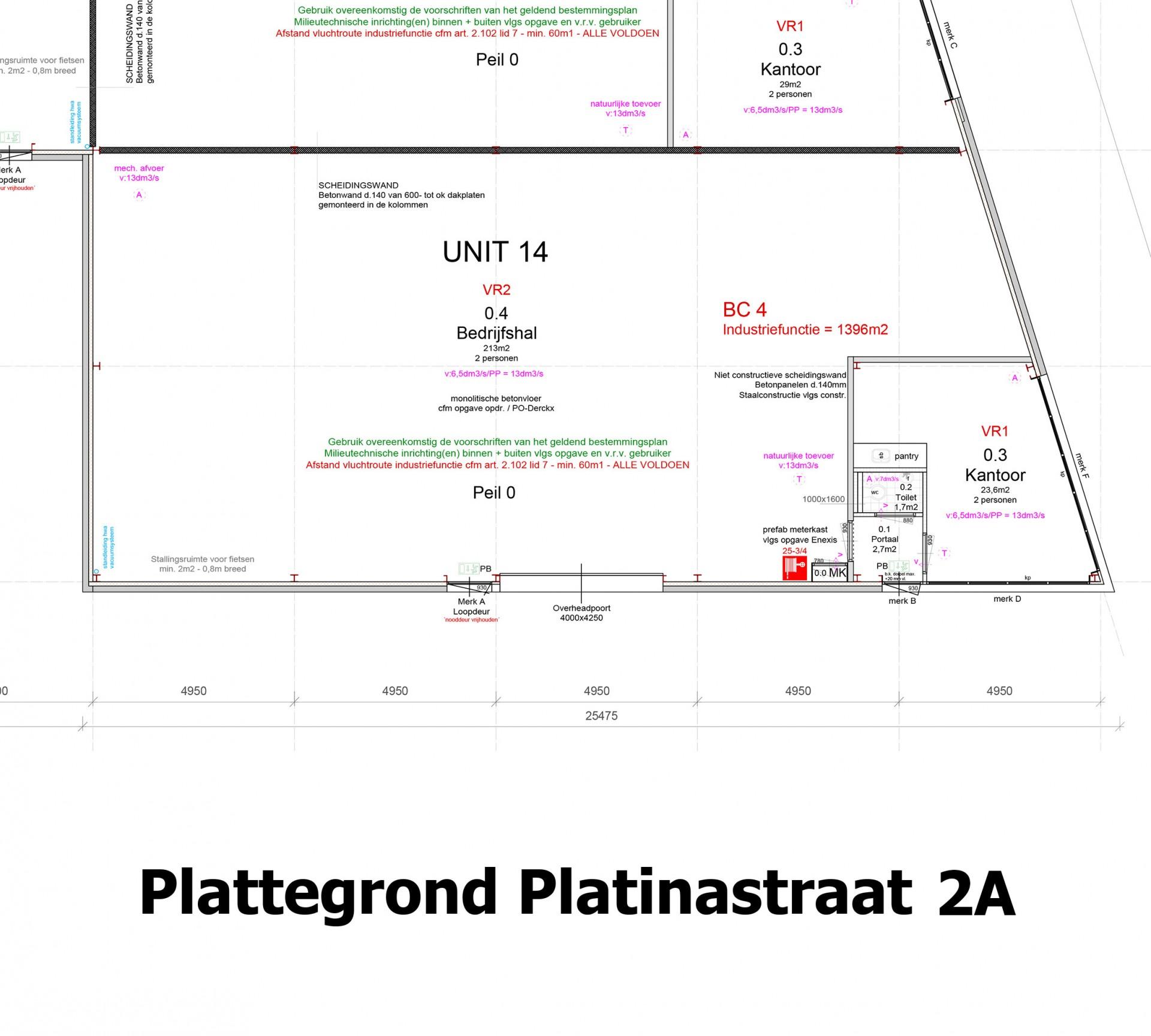Plattegrond Platinastraat 2 A