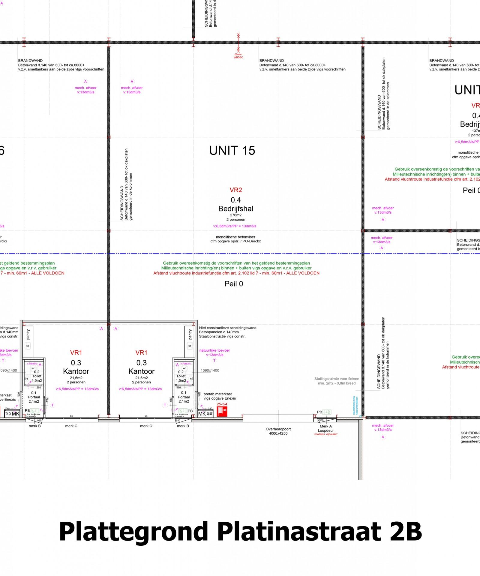 Plattegrond Platinastraat 2 B