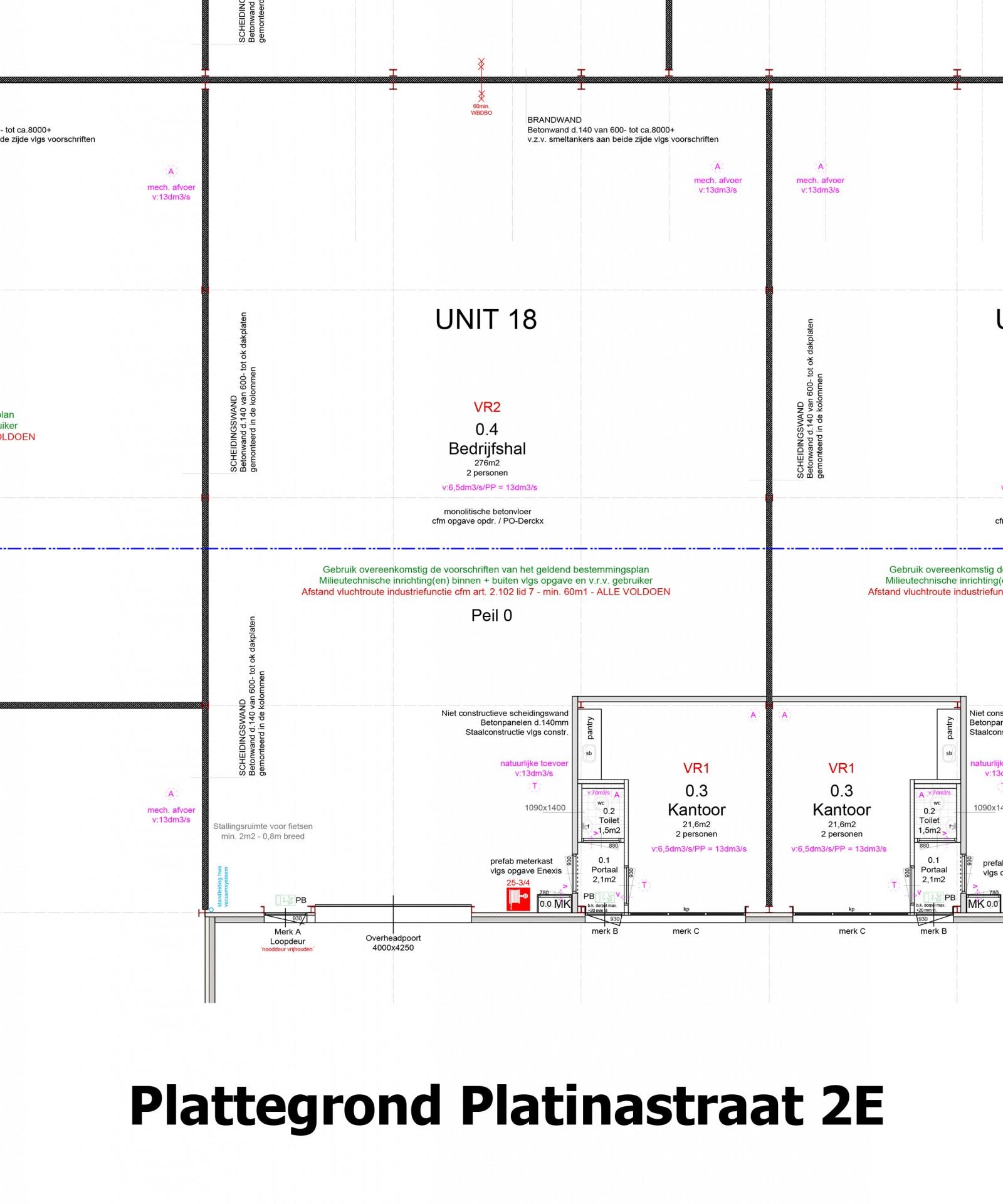 Plattegrond Platinastraat 2 E