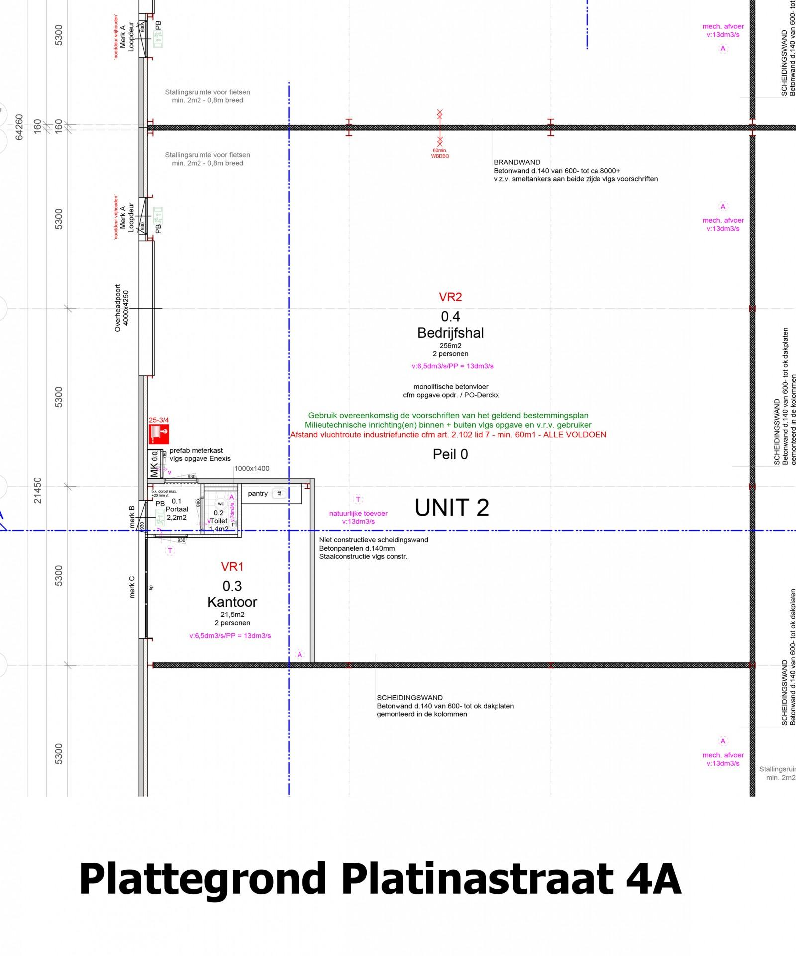 Plattegrond Platinastraat 4 A
