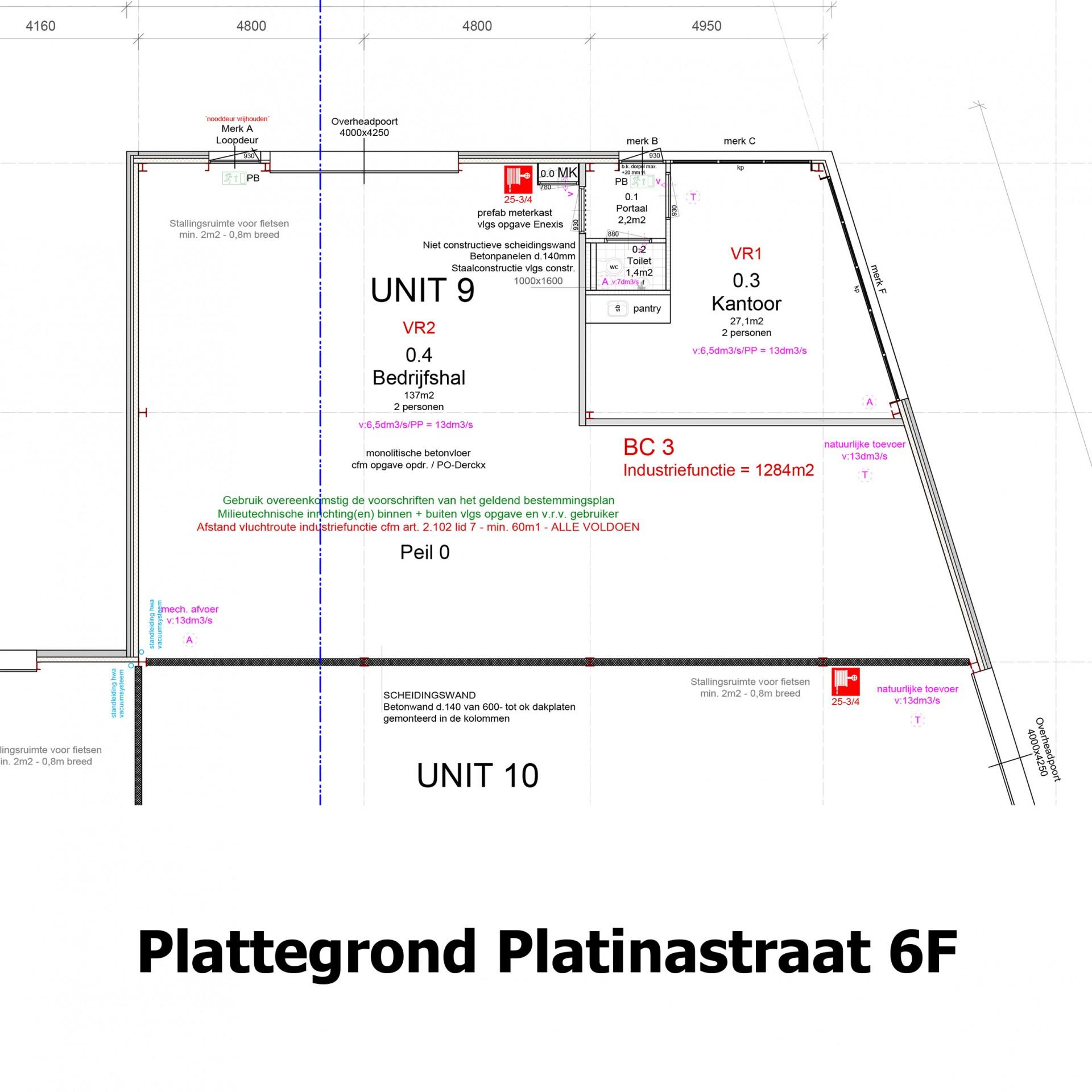 Plattegrond Platinastraat 6 F