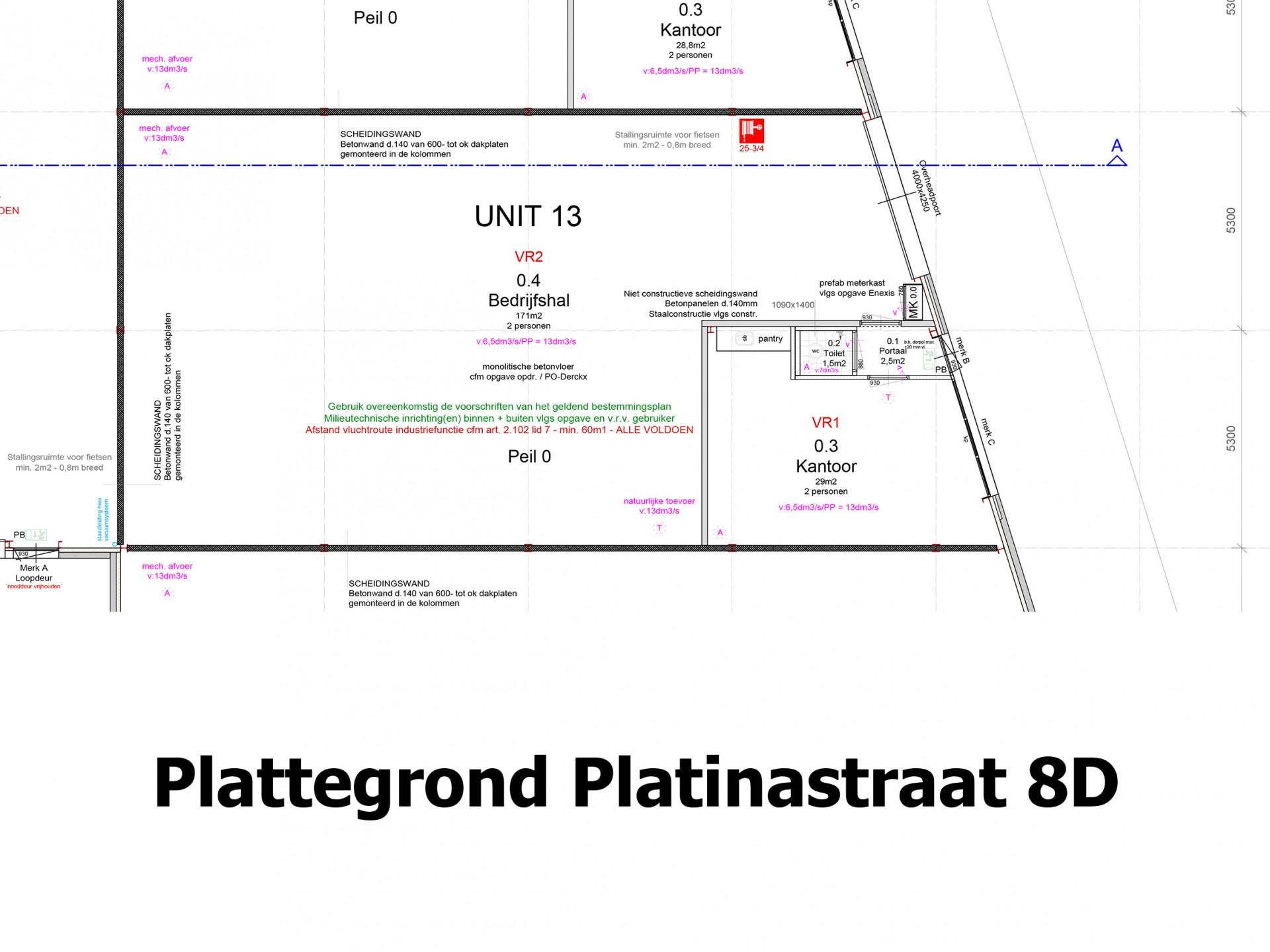 Plattegrond Platinastraat 8 D